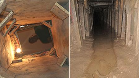 Smuggling Tunnel under the US-Mexico Border
