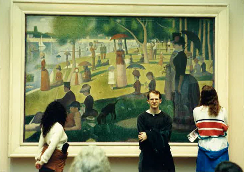 At the Chicago Art Institute, 1993