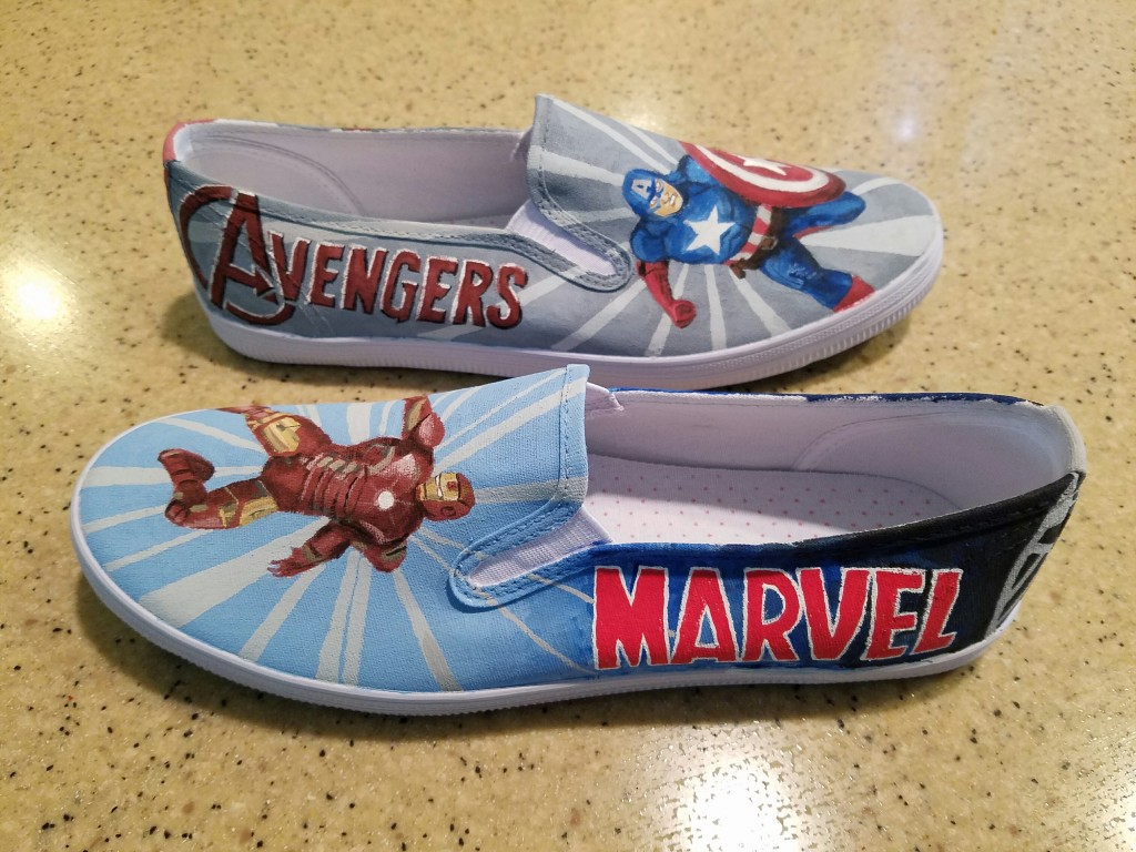 Avengers shoes, side detail