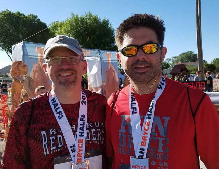 Doran and me after I ran my first half marathon, last July