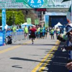 A flying SLC Marathon finish